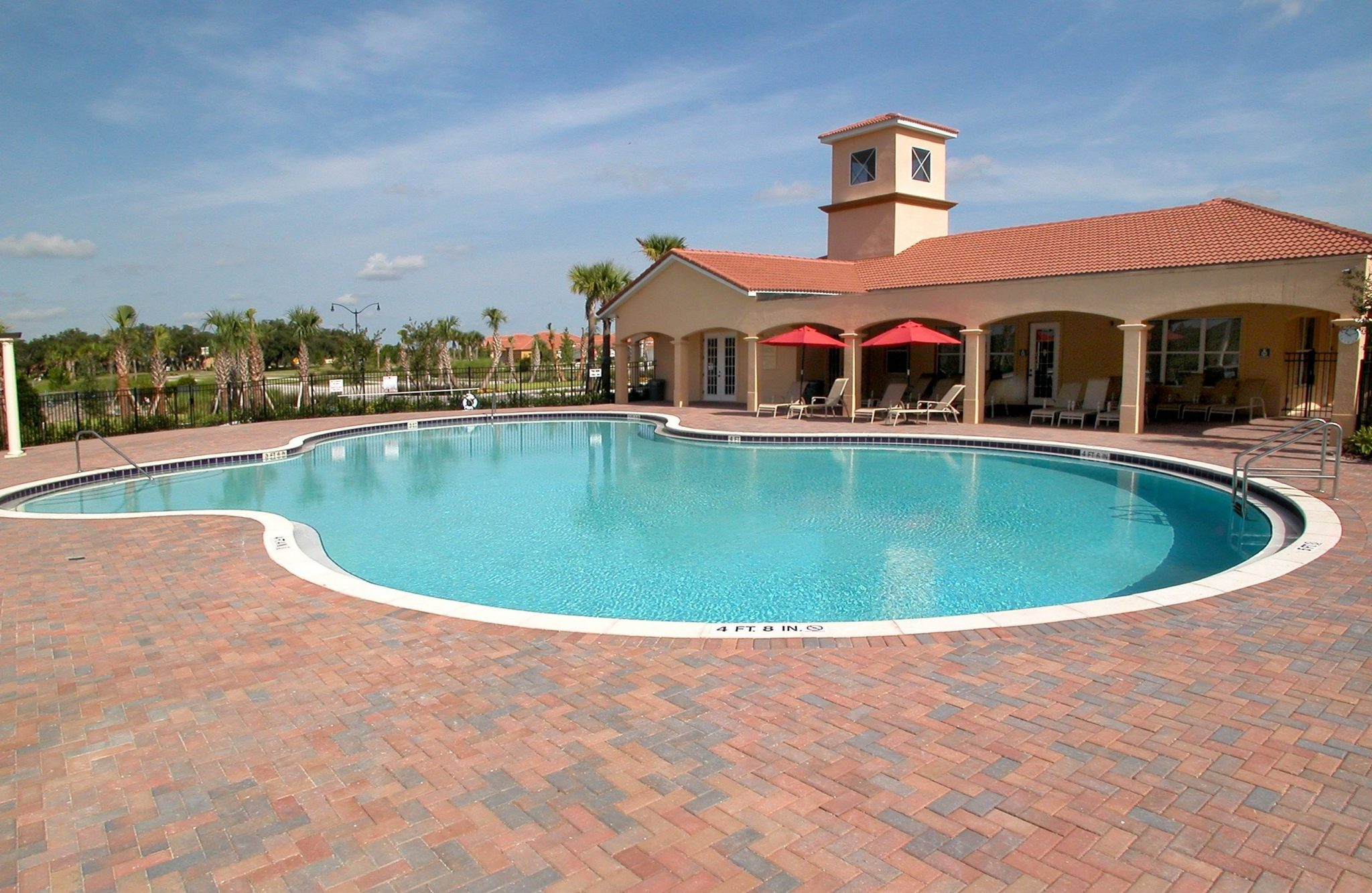 Rey Homes Town Homes and New Homes Community Pool in Kissimmee Florida