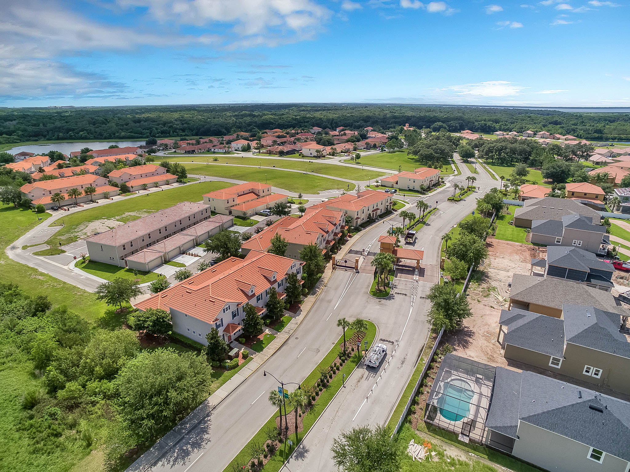 Rey Homes Town Homes and New Homes Community in Kissimmee Florida Aerial View